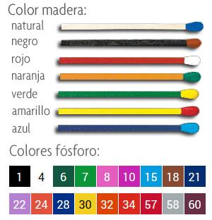 Colores madera y fósforo.