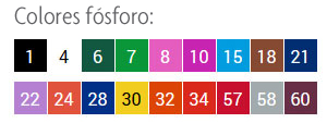 cores fosforo