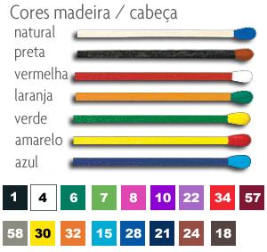 cores madeira / fosforos