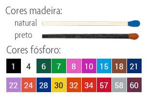 cores madeira / fósforo