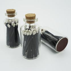 Cristal Tapón Corcho 20 Negro Blanco