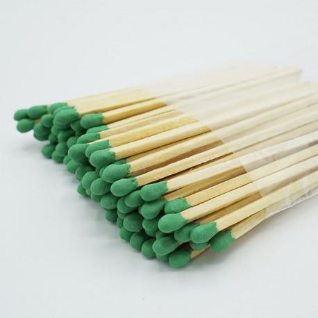 Cerillas 95mm Verde Claro